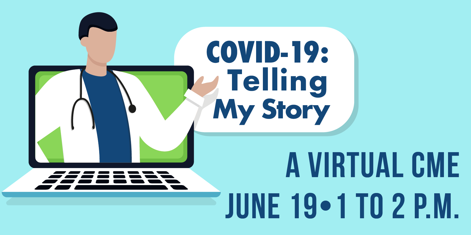 COVID-19 Telling My Story header graphic